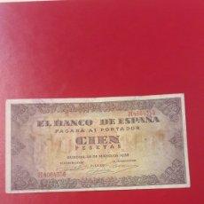 Billetes españoles: BILLETE ESPAÑA BURGOS 100 PESETAS 20 MAYO 1938 SERIE H. Lote 141471152
