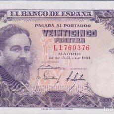 Billetes españoles: BILLETES ESPAÑOLES - ESTADO ESPAÑOL - 25 PESETAS 1954 - SERIE L (SC-). Lote 141851070