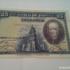 Billetes españoles: BILLETE DE 25 PESETAS AGOSTO 1928 SERIE C. Lote 142035758