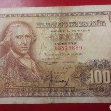 Billetes españoles: BILLETE ESPALA MADRID 2 MAYO 1948 100 PESETAS. Lote 142454152