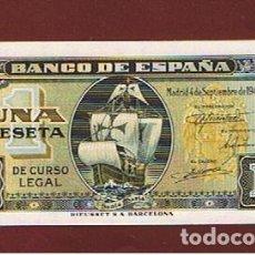 Billetes españoles: ESPAÑA :1 PESETA 1940 ( CARABELA SANTA MARIA ) SC.UNC PK. 122. Lote 142791294