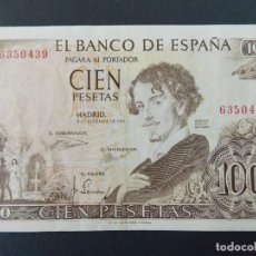 Billetes españoles: BILLETE 100 PESETAS 1965 - BECQUER - SIN SERIE - MBC+ - VER FOTOS ...A123. Lote 142866130