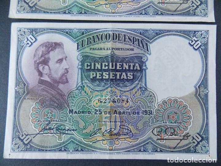 Billetes españoles: TRIO CORRELATIVO 50 PESETAS 1931 - SIN SERIE - VER FOTOS Y DESCRIPCION ...A123 - Foto 4 - 142867978