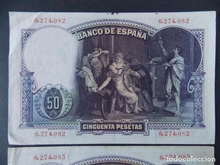 Billetes españoles: TRIO CORRELATIVO 50 PESETAS 1931 - SIN SERIE - VER FOTOS Y DESCRIPCION ...A123 - Foto 5 - 142867978