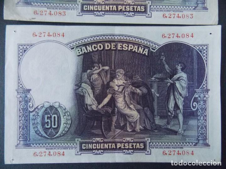 Billetes españoles: TRIO CORRELATIVO 50 PESETAS 1931 - SIN SERIE - VER FOTOS Y DESCRIPCION ...A123 - Foto 7 - 142867978