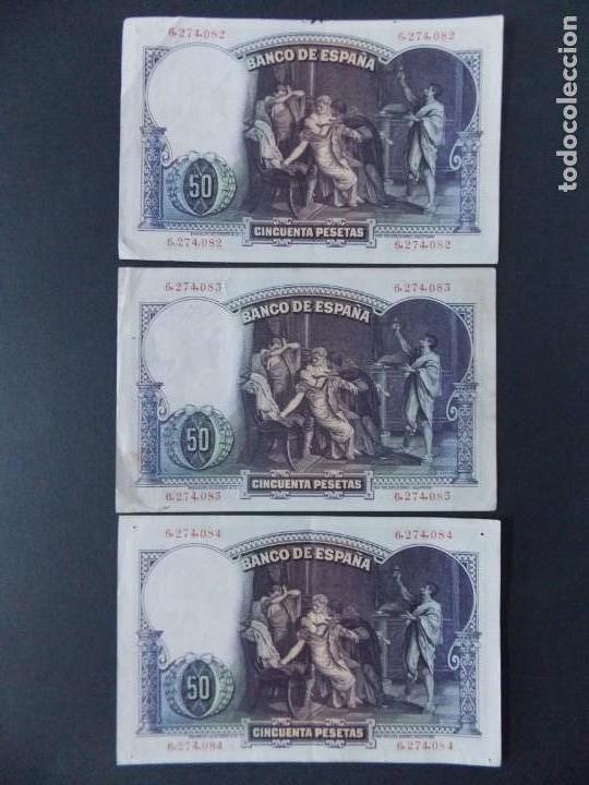 Billetes españoles: TRIO CORRELATIVO 50 PESETAS 1931 - SIN SERIE - VER FOTOS Y DESCRIPCION ...A123 - Foto 8 - 142867978