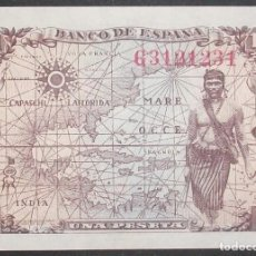 Billetes españoles: BANCO DE ESPAÑA. 1 PESETA 15 JUNIO 1945. ISABEL LA CATÓLICA. SERIE G. SC. Lote 143055018