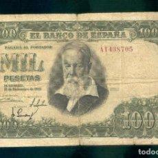 Billetes españoles: ESPAÑA : 1000 PESETAS 1951 ( JOAQUIN SOROLLA ) BC -. FINE -. PK 143. Lote 143548170