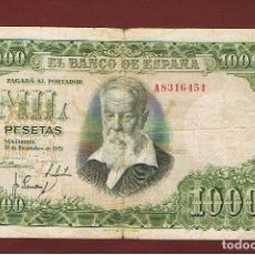 Billetes españoles: ESPAÑA : 1000 PESETAS 1951 ( JOAQUIN SOROLLA ) BC . FIND . PK 143. Lote 143548994