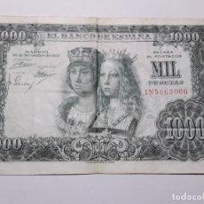 Billetes españoles: 1000 PESETAS REYES CATOLICOS 1957. Lote 143566744