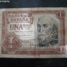 Billetes españoles: BILLETE DE 1 PESETA 1953 .. Lote 143618958