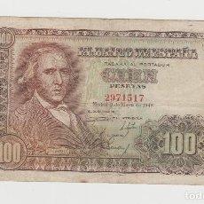 Billetes españoles: 100 PESETAS- 2 DE MAYO DE 1948-SIN SERIE. Lote 143655490