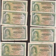 Billetes españoles: BILLETES DE ALFONSO XIII ORIGINALES LOS QUE VES . Lote 144013890