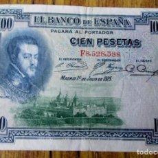 Billetes españoles: BILLETE 100 PESETAS 1925 - EL DE LA FOTOGRAFÍA . Lote 144144918