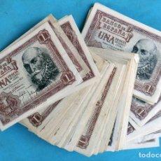 Billetes españoles: LOTE DE 100 BILLETES DE 1 PESETA 1953 , BUEN ESTADO , MBC + - , Y EBC, ORIGINALES. Lote 144390846