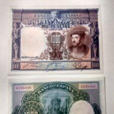 Billetes españoles: ESPAÑA 1.000 PESETAS 1925 PAREJA EBC+++. Lote 144484504