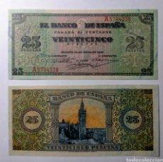 Billetes españoles: ESPAÑA, 25 PESETAS 1938, PAREJA S/C. Lote 144508484