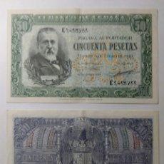 Billetes españoles: 50 PESETAS 1940. PAREJA CORRELATIVA.EBC+++. Lote 144514037