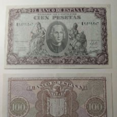 Billetes españoles: 100 PESETAS DE 1940. PAREJA CORRELATIVA.EBC+++. Lote 144516225