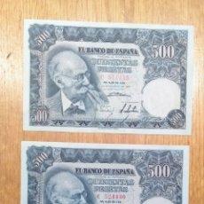 Billetes españoles: 500 PESETAS 1951. PAREJA.EBC+++. Lote 144744776