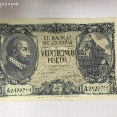Billetes españoles: RARO BILLETE DE 25 PESETAS. Lote 144845662
