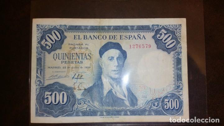 BILLETE 500 PESETAS 1954 SIN SERIE (Numismática - Notafilia - Billetes Españoles)