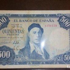 Billetes españoles: BILLETE 500 PESETAS 1954 SIN SERIE. Lote 145283362
