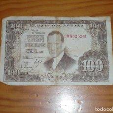 Billetes españoles: BILLETE DE CIEN PESETAS. 1953. JULIO ROMERO DE TORRES.. Lote 145430606