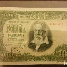 Billetes españoles: 1000 PESETAS DE 1951. Lote 145618498