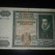 Billetes españoles: BILLETE 500 PESETAS DE 09 ENERO DE 1940. Lote 145564294