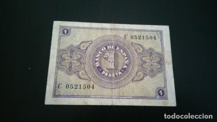 Billetes españoles: 1 peseta de 1937 ROJA - Foto 2 - 145624438