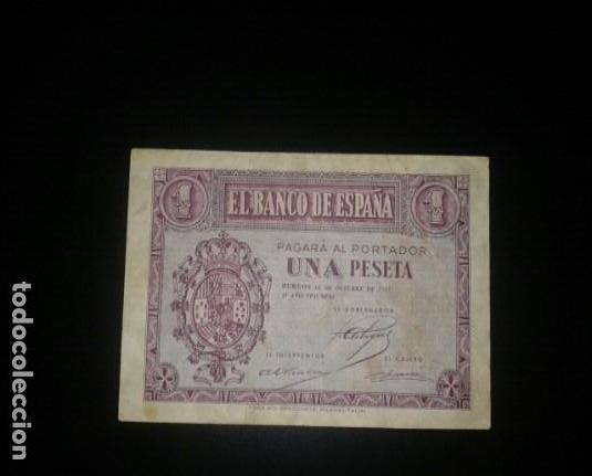 1 PESETA DE 1937 ROJA (Numismática - Notafilia - Billetes Españoles)