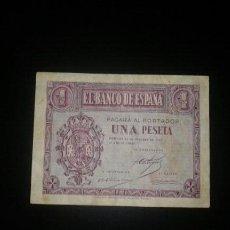 Billetes españoles: 1 PESETA DE 1937 ROJA. Lote 145624438