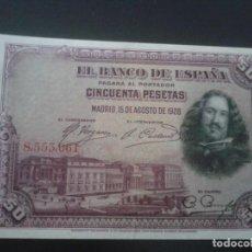 Billetes españoles: BILLETE 50 PESETAS 1928 SIN SERIE. Lote 145744406