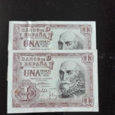 Billetes españoles: 2 BILLETES CASI CORRELATIVOS EMISIÓN JULIO 1953 PLANCHA. Lote 146090590