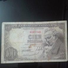 Banconote spagnole: BILLETE CIEN PESETAS FEBRERO 1946 GOYA SIN SERIE MBC. Lote 146128142