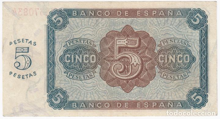 Billetes españoles: ESPAÑA: 5 pesetas Burgos 10 agosto 1938 CALIDAD PLANCHA serie C - Foto 2 - 146660062