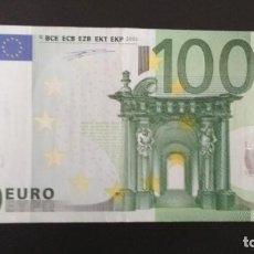Billetes españoles: BILLETE DE 100 EUROS FIRMA PRIMERA DUISEMBERG SERIE V NUMERACIÓN BAJA. Lote 146685042