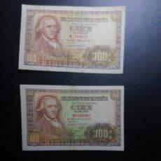 Billetes españoles: LOTE 3 BILLETES 100 PESETAS 1948 ESTADO ESPAÑOL FRANCO MUY CORRECTOS**PAGO SOLO PAYPAL**. Lote 147060750