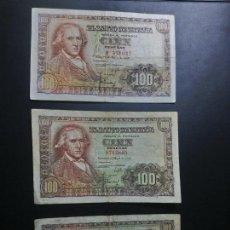 Billetes españoles: LOTE 3 BILLETES 100 PESETAS 1948 2 SIN SERIE ESTADO ESPAÑOL FRANCO MUY CORRECTOS**PAGO SOLO PAYPAL**. Lote 147061174