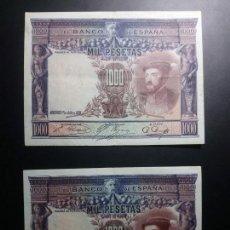 Billetes españoles: LOTE 2 BILLETES 1000 PESETAS 1926 MBC+/MBC-*PAGO SOLO PAYPAL**. Lote 147063854