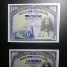 Billetes españoles: LOTE 2 BILLETES 1000 PESETAS 1928 EBC*PAGO SOLO PAYPAL**. Lote 147064430