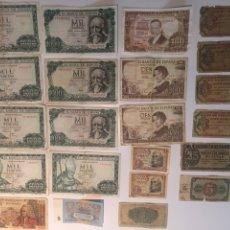 Billetes españoles: LOTE DE BILLETES DESDE 1936 A 1965 INCLUYE 10 FRANCOS DE 1967 Y 5 RUBLOS DE 1961 SIN CIRCULAR. Lote 147550536