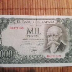 Billetes españoles: BILLETE 1000 PESETAS AÑO 1971 (SERIE B) UNC/SC. Lote 147551850