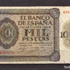 Billetes españoles: BILLETE DE BURGOS 1,000 PTAS, AÑO 1936, MUY B. CONSERVACION, . Lote 147571722