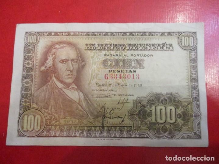BILLETE DE 100 PESETAS 2 DE MAYO. 1948 (Numismática - Notafilia - Billetes Españoles)