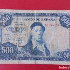 Billetes españoles: BILLETE DE 500 PESETAS 1954 - IGNACIO ZULOAGA - CON SERIE C .. A1145. Lote 147701954