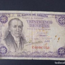 Billetes españoles: BILLETE DE 25 PESETAS AÑO 1946 - FLOREZ ESTRADA - CON SERIE C ..A1156. Lote 147750574
