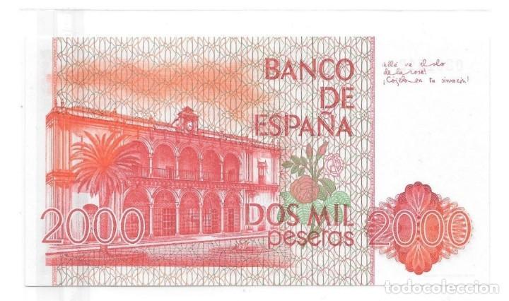 Billetes españoles: 2000 pesetas de 1980 sin serie, numeración bajisima 0001542,sin circular/plancha - Foto 2 - 147764886