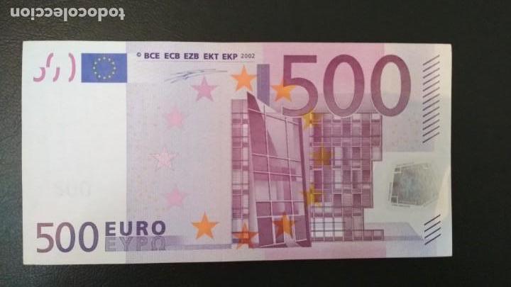 BILLETE DE 500 EUROS DE LA PRIMERA FIRMA DE DUISENBERG, NÚMERO BAJO, SIN CIRCULAR/PLANCHA (Numismática - Notafilia - Billetes Españoles)